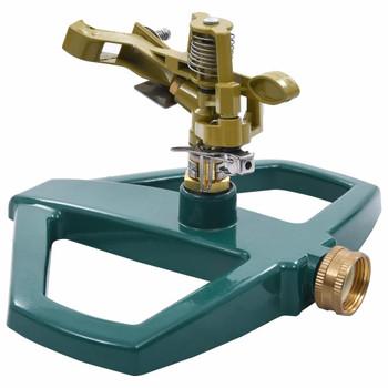 vidaXL Rotirajuća prskalica zelena 21 x 22 x 13 cm metalna