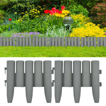 vidaXL Rubnjaci za travnjak 36 kom sivi 10 m PP