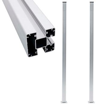 vidaXL Stupovi za ogradu 2 kom aluminijski 185 cm