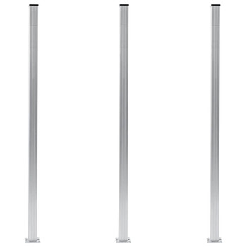 vidaXL Stupovi za ogradu 3 kom aluminijski 185 cm