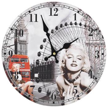 vidaXL Starinski zidni sat sa slikom Marilyn Monroe 30 cm