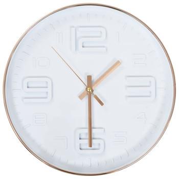 vidaXL Zidni sat s bakrenim izgledom 30 cm
