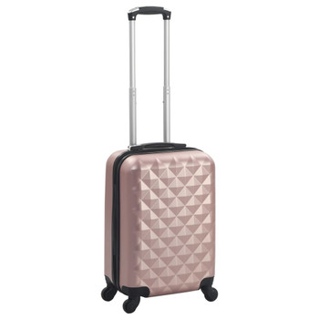 vidaXL Čvrsti kovčeg ružičasto-zlatni ABS