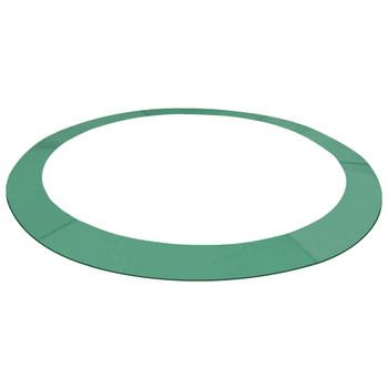 vidaXL Sigurnosna podloga PE zelena za okrugli trampolin od 3,66 m