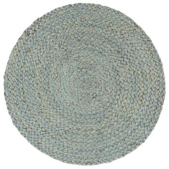 vidaXL Podmetači 4 kom obični/maslinasti 38 cm okrugli od jute