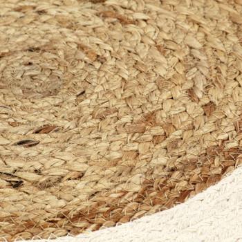 vidaXL Podmetači okrugli 4 kom obični/prirodni 38 cm od jute i pamuka
