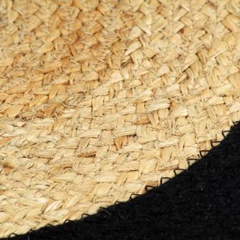 vidaXL Podmetači 4 kom prirodna i crna boja 38 cm od jute i pamuka