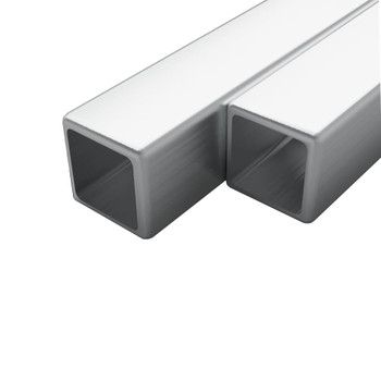vidaXL Cijevi od nehrđajućeg čelika 2 kom kvadratne V2A 2m 20x20x1,9mm