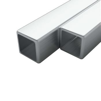 vidaXL Cijevi od nehrđajućeg čelika 2 kom kvadratne V2A 2m 25x25x1,9mm