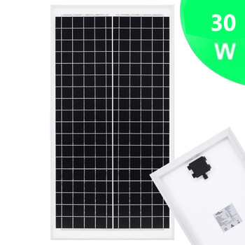 vidaXL Solarna ploča polikristalna 30 W aluminij i sigurnosno staklo
