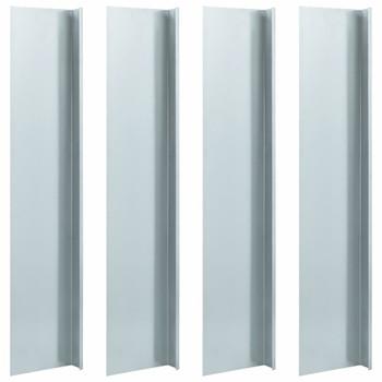 vidaXL Ploče za ogradu protiv puževa 4 kom čelične 70x7x25 cm 0,7 mm