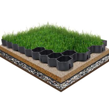 vidaXL Rešetke za travu 16 kom crne 60 x 40 x 3 cm plastične