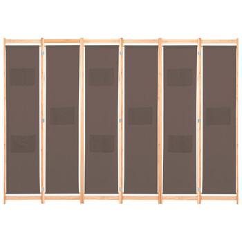 vidaXL Sobna pregrada sa 6 panela od tkanine 240 x 170 x 4 cm smeđa