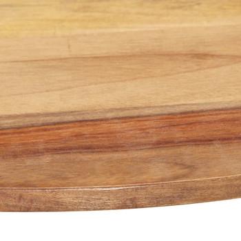 vidaXL Stolna ploča od masivnog drva šišama okrugla 25 - 27 mm 60 cm
