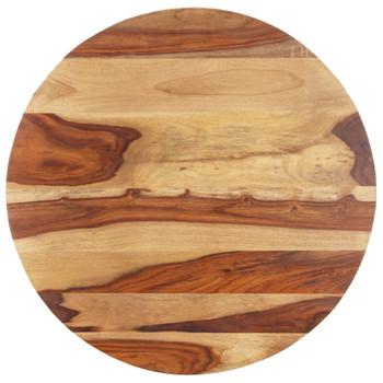 vidaXL Stolna ploča od masivnog drva šišama okrugla 25 - 27 mm 80 cm