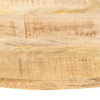 vidaXL Stolna ploča od masivnog drva manga okrugla 15 - 16 mm 60 cm