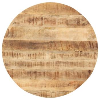vidaXL Stolna ploča od masivnog drva manga okrugla 15 - 16 mm 80 cm