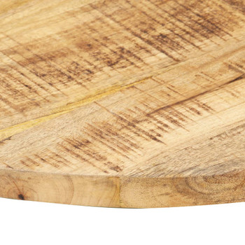 vidaXL Stolna ploča od masivnog drva manga okrugla 25 - 27 mm 40 cm