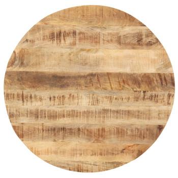 vidaXL Stolna ploča od masivnog drva manga okrugla 25 - 27 mm 60 cm