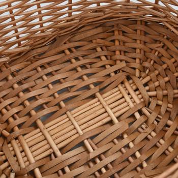 vidaXL Košara za drva za ogrjev s ručkama 58x42x29 cm od prirodne vrbe