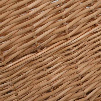 vidaXL Košara za drva za ogrjev s ručkama 78x54x34 cm od prirodne vrbe