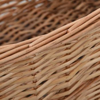 vidaXL Košara za drva za ogrjev s ručkama 88x57x34 cm od prirodne vrbe