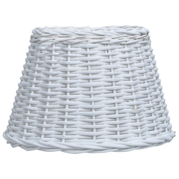 vidaXL Sjenilo za svjetiljku od pruća 40 x 26 cm bijelo