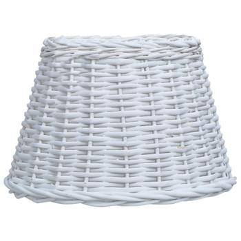 vidaXL Sjenilo za svjetiljku od pruća 50 x 30 cm bijelo