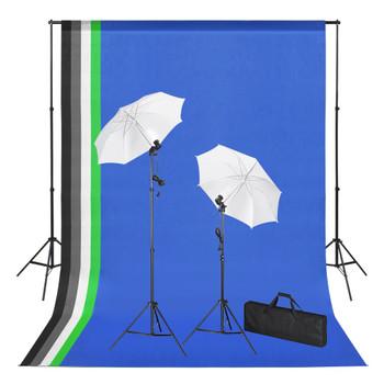 vidaXL Fotografska oprema s pozadinama, svjetlima i kišobranima