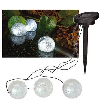 HI solarna LED plutajuća svjetiljka za ribnjak 9 cm