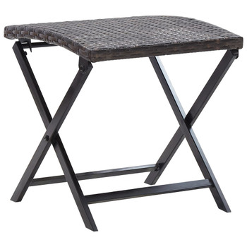 vidaXL Sklopivi stolac od poliratana smeđi