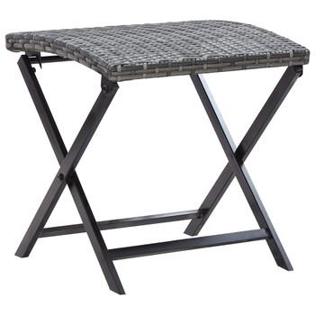 vidaXL Sklopivi stolac od poliratana sivi