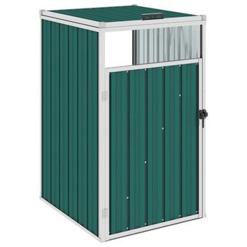 vidaXL Spremište za kantu za smeće zeleno 72 x 81 x 121 cm čelično