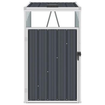 vidaXL Spremište za kantu za smeće antracit 72 x 81 x 121 cm čelično