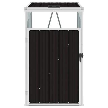 vidaXL Spremište za kantu za smeće smeđe 72 x 81 x 121 cm čelično