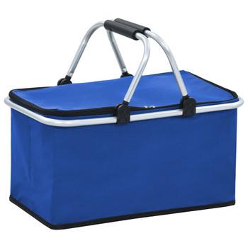 vidaXL Sklopiva torba za hlađenje plava 46 x 27 x 23 cm aluminijska