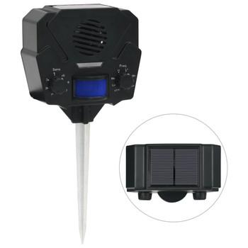 vidaXL Solarni ultrazvučni repelent za životinje aktivacija pokretom