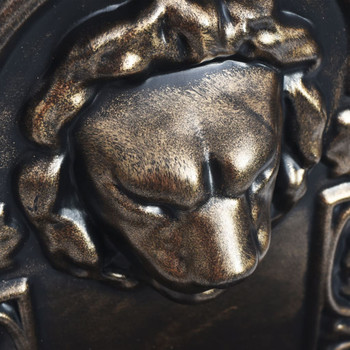 vidaXL Zidna fontana s dizajnom lavlje glave brončana