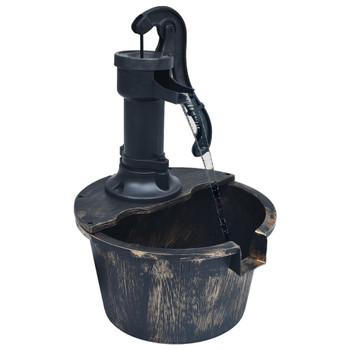 vidaXL Vrtna vodena fontana u obliku bačve s crpkom