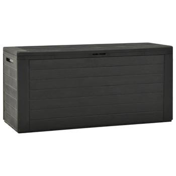 vidaXL Vrtna kutija za pohranu antracit 116 x 44 x 55 cm
