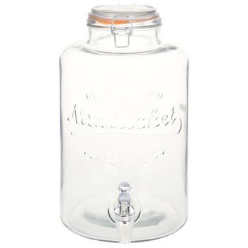 vidaXL Dozator za vodu XXL sa slavinom prozirni 8 L stakleni