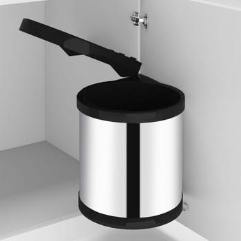 vidaXL Ugradbena kuhinjska kanta za smeće od nehrđajućeg čelika 8 L