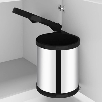 vidaXL Ugradbena kuhinjska kanta za smeće od nehrđajućeg čelika 12 L