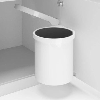 vidaXL Ugradbena kuhinjska kanta za smeće plastična 12 L