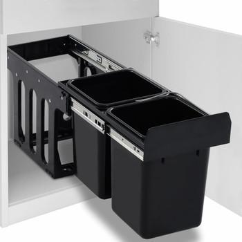 vidaXL Kanta za otpatke na izvlačenje za kuhinjski ormarić 20 L