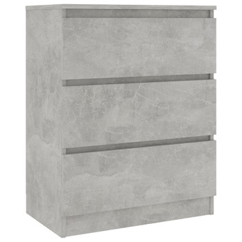 vidaXL Komoda siva boja betona 60 x 35 x 76 cm od iverice