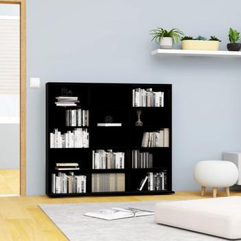 vidaXL Ormarić za CD-ove crni 102 x 16 x 89,5 cm od iverice