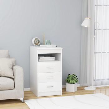 vidaXL Ladičar bijeli 40 x 50 x 76 cm od iverice