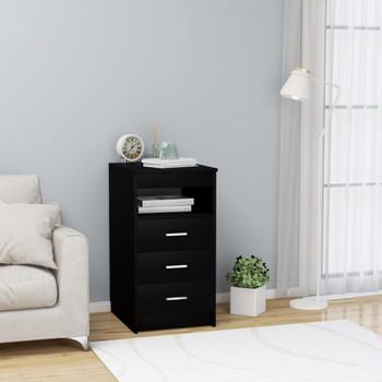 vidaXL Ladičar crni 40 x 50 x 76 cm od iverice