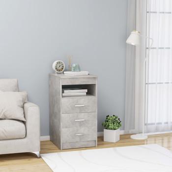 vidaXL Ladičar siva boja betona 40 x 50 x 76 cm od iverice